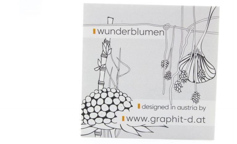 Aufkleber von graphit-d mit Wunderblumen
