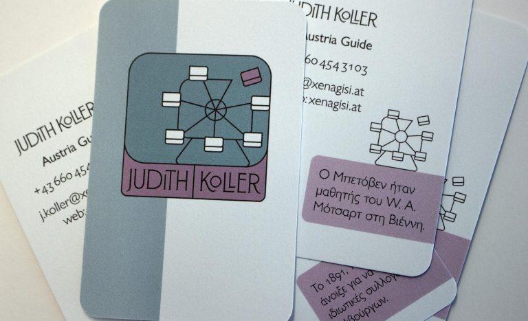 Visitenkarte von Judith Koller
