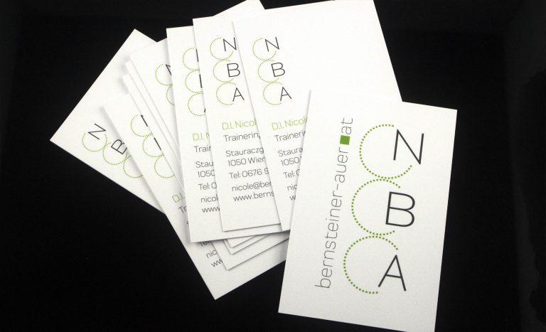 Visitenkarte für Dipl. Ing. Nicole Bernsteiner-Auer (NBA)