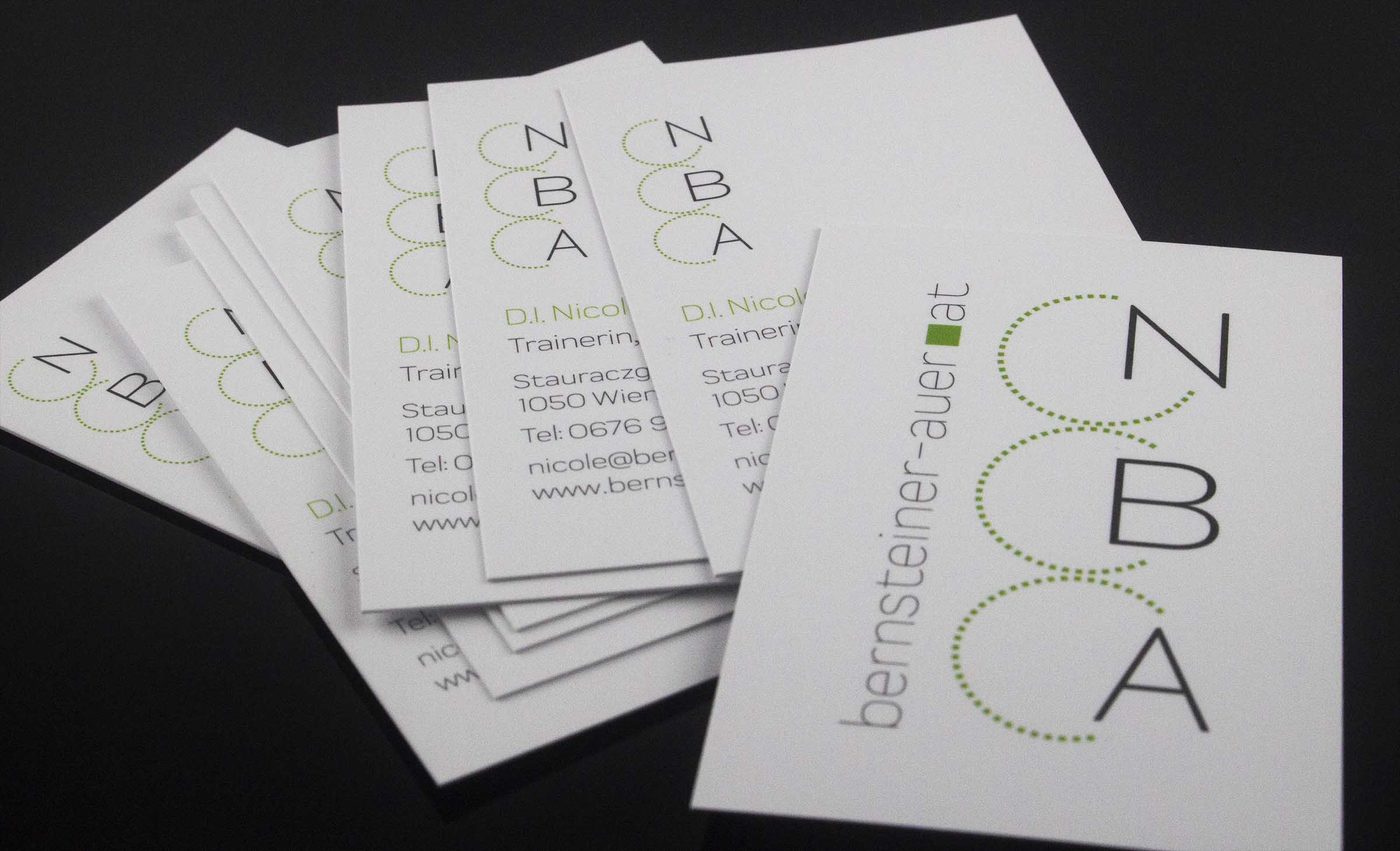 Logodesign & Visitenkarten - Dipl. Ing. Nicole Bernsteiner-Auer (NBA)
