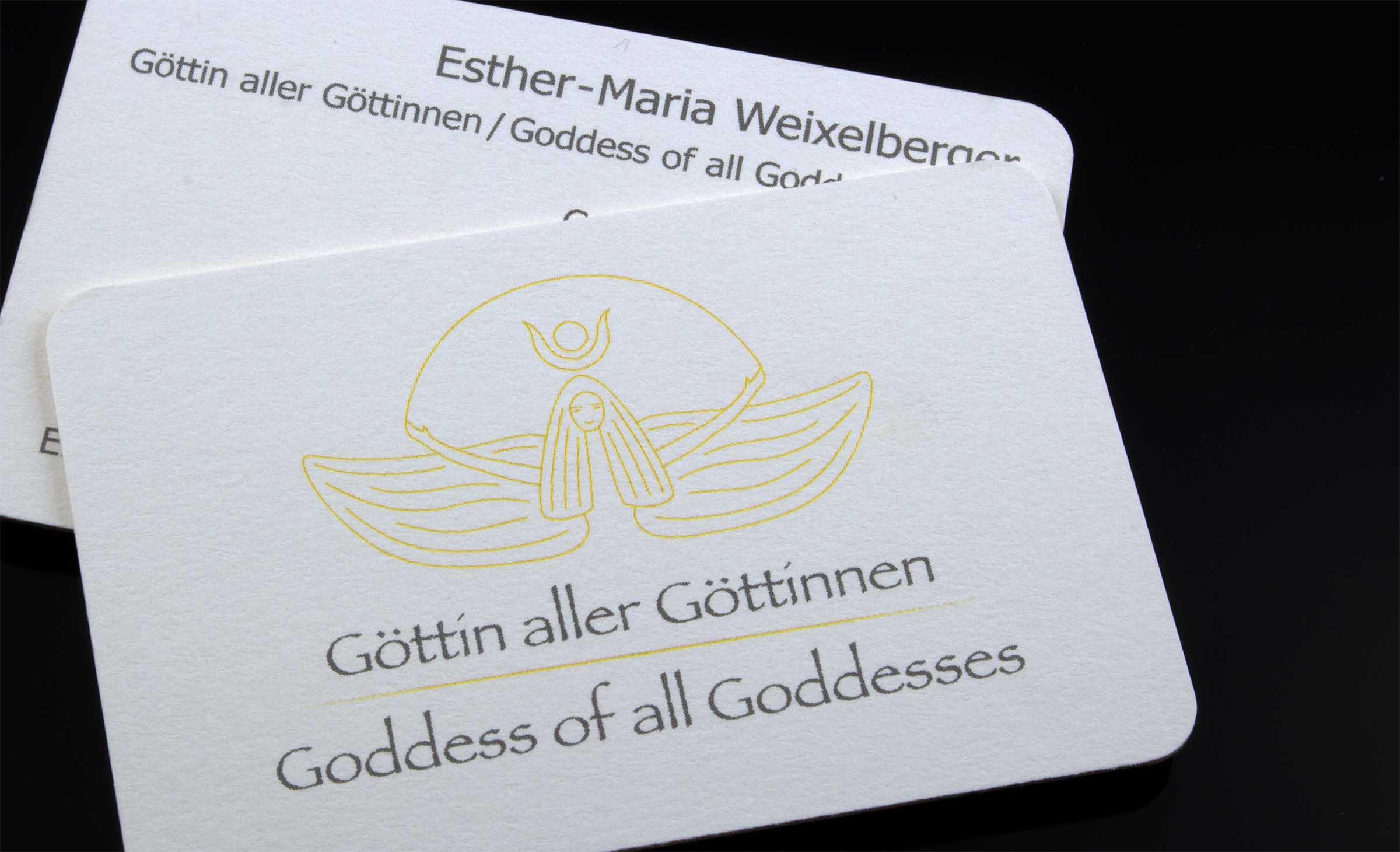 Visitenkarten für Göttin aller Göttinnen