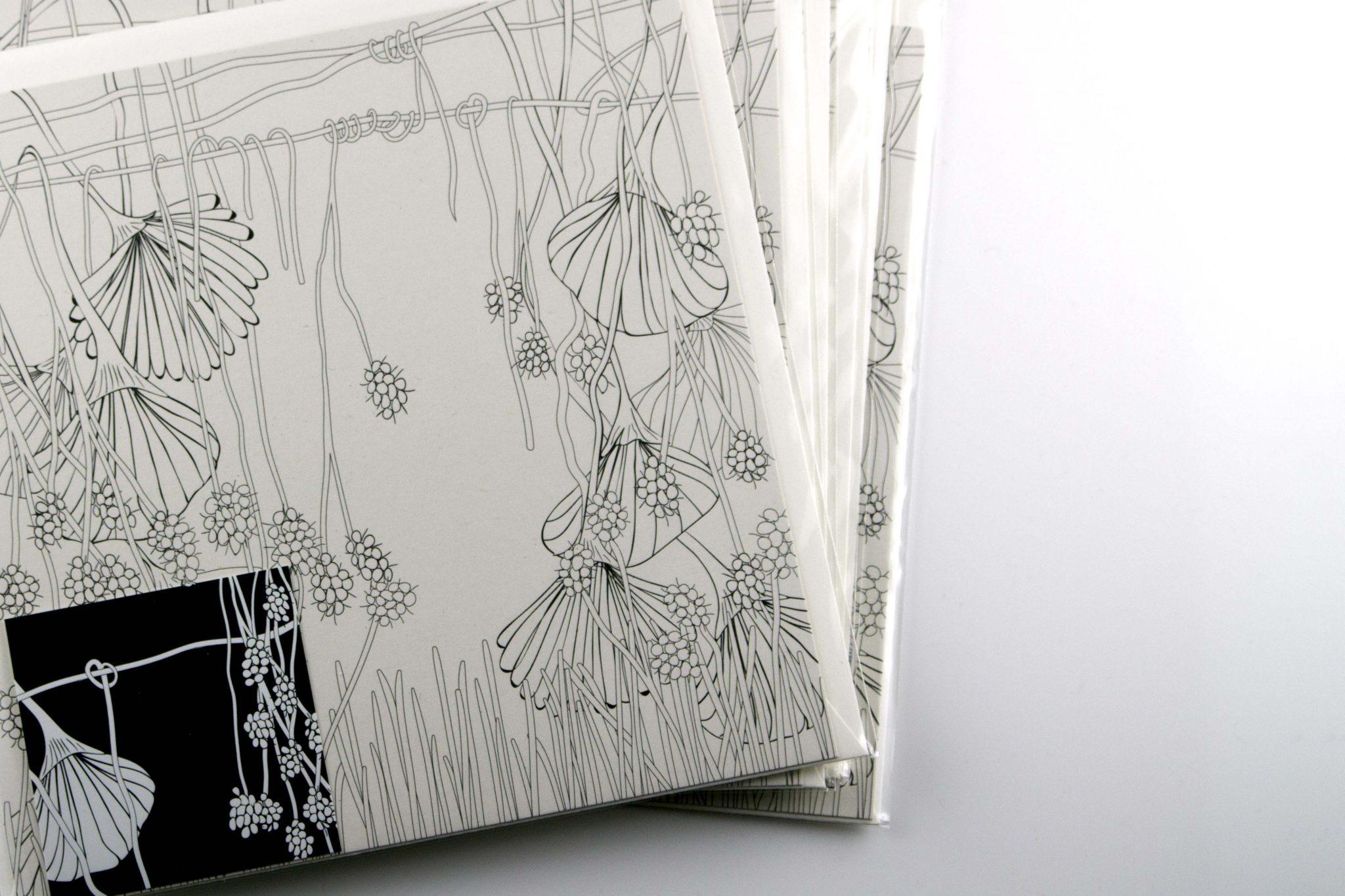 Wunderblumen Postkarte No 1 von graphit-d